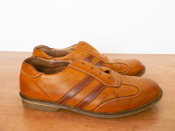 Vintage caramel leather shoes sneakers size 39 / 7,5