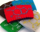 caffeine molecule coffee sleeve  MADE TO ORDER