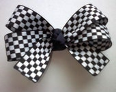 NASCAR Fans .:. Checkered Flag Boutique Hair Bow - Perfect for your little racing fan