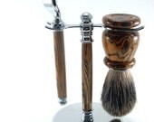 Handmade Shaving Kit - Bocote Wood