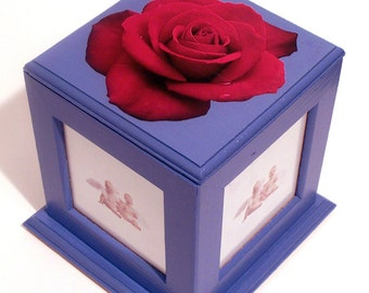 Red Rose Photo Cube