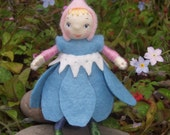 Forget-me-not Elf miniature doll