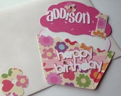 Custom Order Reserved Listing - Cupcake Birthday Card for Hamilton