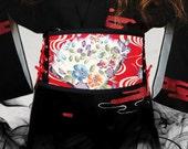 Obi belt japanese cincher Fan Red