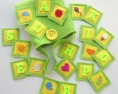"""ON SALE--Memory Game- """"A is for Apple"""""""