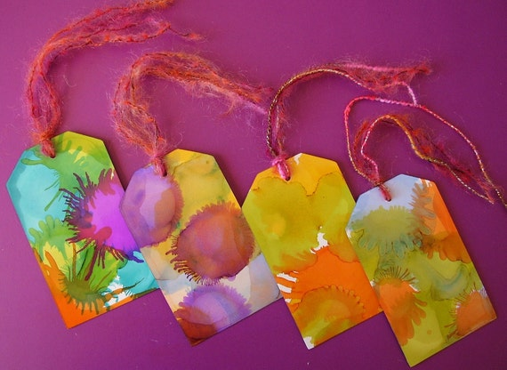 Burst of Color Cardstock Tags, Embellishment, Gift Giving, Scrapbooking, Journalling