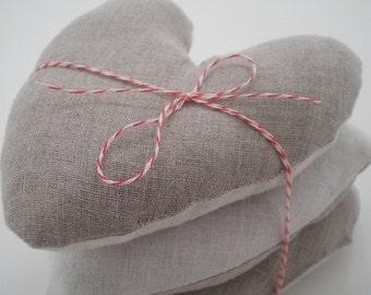 Heart, Lavender Sachet, Wedding Favors or Valentine Hearts, Linen
