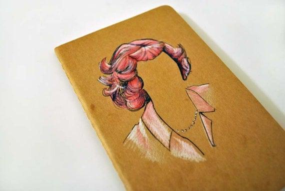 Grease Movie Frenchie Hand-Drawn Moleskine Kraft Cahier Notebook
