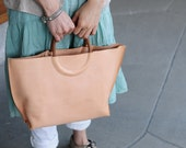 Artemis Leatherware Hand Stitched Leather Tote Bag/ Hand Bag