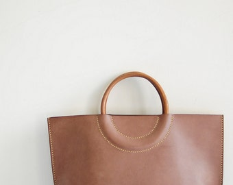 Artemis Leatherware Hand Stitched Leather Tote Bag