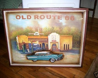 Old Route 66 Print 1967 3D Chevrolet