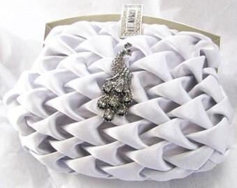 purses, bridal clutches, bride bridesmaid, formal wedding, bridal hand bag, rhinestones brooch, bridal purse, wedding clutch, bridal handbag