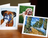 Beautiful Note Cards of your Custom Painting - Set of 10 with Envelopes