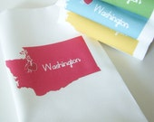 I Love Washington  Napkins in Pop Color- Set of FOUR