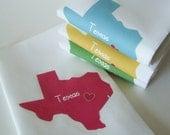 I Love Texas, Set of Four Napkins