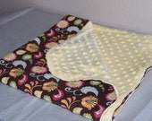 Brother & Sister Serendipity and Buttercream Minky Dots Baby Blanket