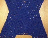 Crocheted Vest with Hankerchief Hem      FREE SHIPPING in Continential USA