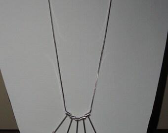Modernist Design Sterling Silver Necklace