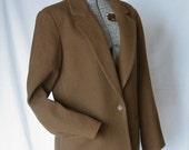 Vintage, Cashmere, Wool Blend, J Crew, Olive Blazer, Size: 10