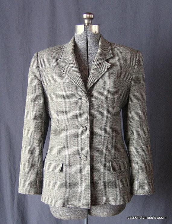 Vintage, Gray Wool Blazer, Gianni Sport, Womens, Size 8