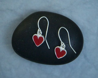 Red Heart Earrings EE59