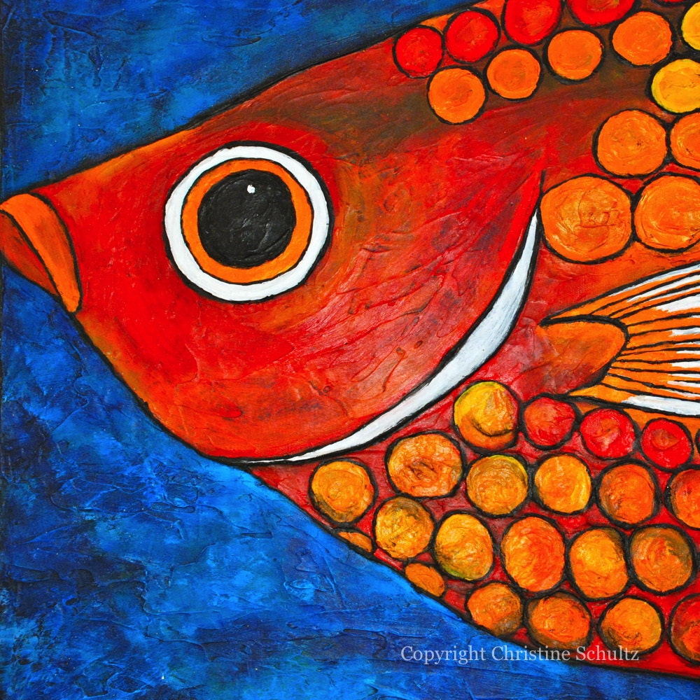 fish painting fine art on canvas