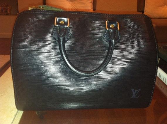 Vintage Louis Vuitton Speedy 25 Epi Noir Black