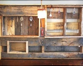 Wall Organizer Jewelry Storage from Reclaimed Wood with Built In Light