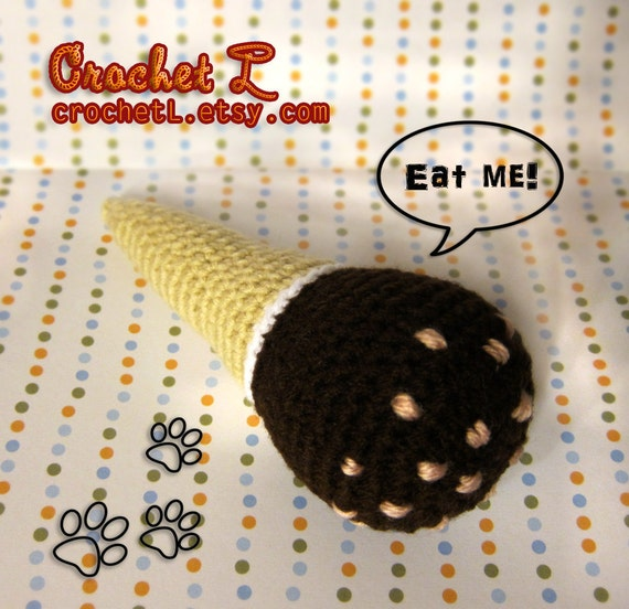 Reserved for BELLABEAN123 - DOG TOY Ice Cream Drumstick w/ squeaker