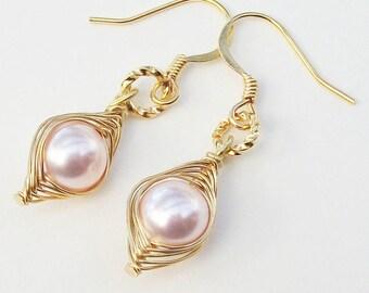 Peas in a pod, Pea pod earrings, gold pea pod earrings, mothers earrings, baby shower gift, gift for mother, best friend gift