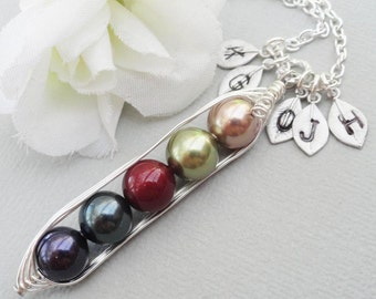 Sweet Peas In A Pod 2, 3,4 Or 5 Pearls Jewel Colors  - Pick And Mix Your Colors