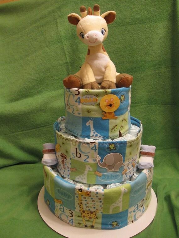 Sale Baby Boy Giraffe Diaper Cake