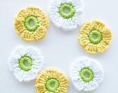 Crochet Flowers - Set of 6