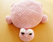 Crochet Turtle Pillow Pouf Ottoman Floor Cushion - Instant Download