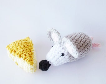 Crochet Mouse Cheese Pattern - Instant Download