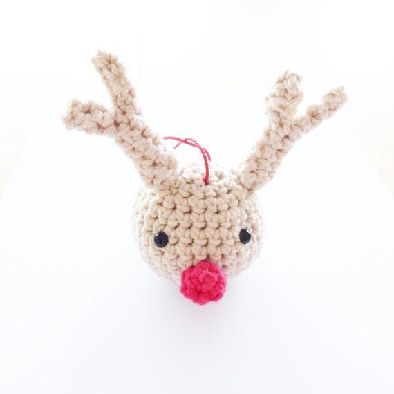Crochet Reindeer Christmas Ball Pattern - Instant Download