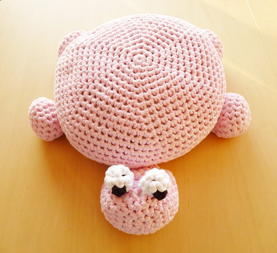 Crochet Ottoman : Crochet Turtle Pillow Pouf Ottoman Floor Cushion - Instant Download