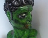 Zombie head of David one of a kind hand painted