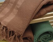 FREE SHIPPING - Extra Soft Peshtemal Towel - BROWN - High Quality