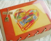 Love Office Work - Paperclips Heart - Personalised Card Handmade in Ireland