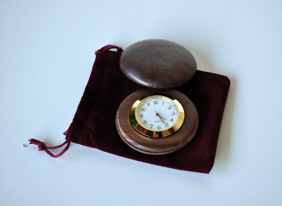 Pocket watch in claro walnut