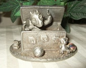 Vintage dragon 1988 Gallo Pewter Toybox dragon RARE Baby boy gift baby shower new baby goth baby gift pewter toy box dragon collectible