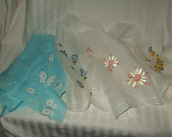 vintage hankies vintage hankys vintage handkerchiefs  Switzerland and Maderia.