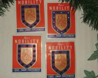 Vintage supplies Prym's Nobility snap fasteners vintage supplies vintage sewing notion vintage snap fasteners.