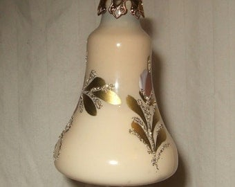 vintage  Christmas ornament 1983 hand painted bell  Christmas ornament made in Germany.