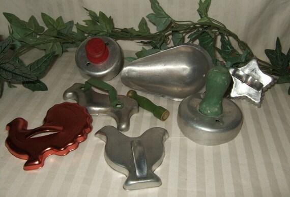 Vintage primitive cookie cutter farm animal cookie cutters star cookie cutter copper cookie cutters aluminum cookie cutters