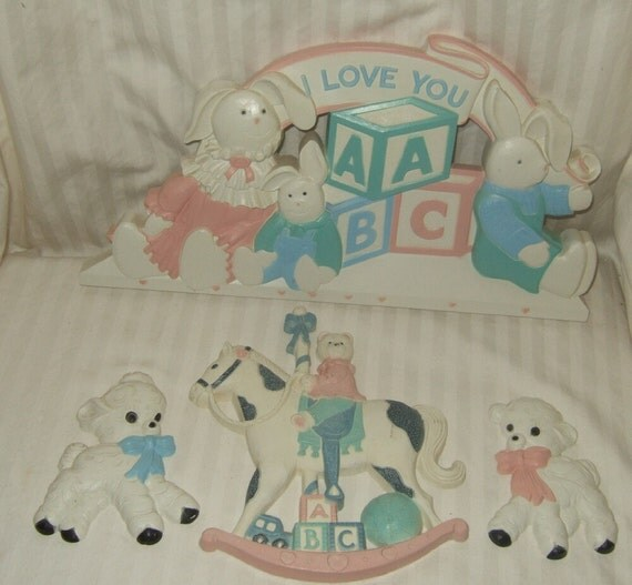 Vintage Homco Home Interiors Nursery Wall By