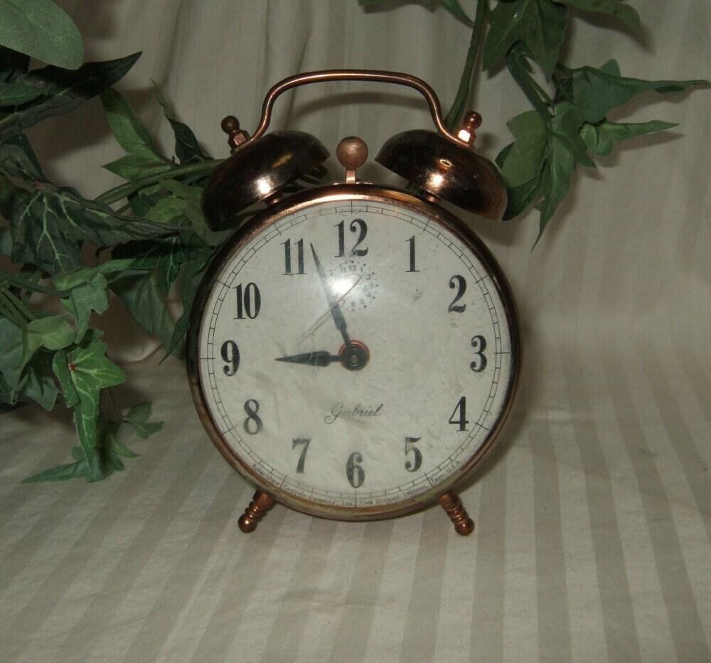 Vintage Gabriel Clock Alarm Clock Bell Alarm Clock Working