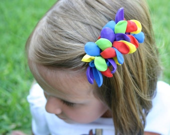 Rainbow Balloon Hair Barrette