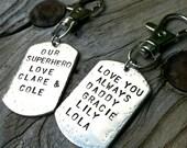 Personalized Keychain, Boyfriend Gift, Gifts for Dad, Gifts for Father, Personalized Gifts, Father's Day Gifts, natashaaloha